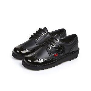 110689 Lthr Kick Lo Kickers Uk Size 3 Af Black 8 Women Brogue 7wTqxU4I