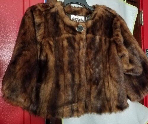Brown Little Mink lal A Jacket S Størrelse Faux Live Ved Nwt 45Rx6qRwd