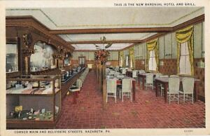 Image Is Loading Postcard New Baronial Hotel And Grill 2 Nazareth