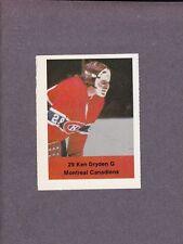 1974-75 Acme Loblaws Hockey Ken Dryden Goalie Montreal Canadiens