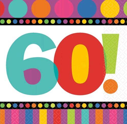 60th Birthday Party Napkins