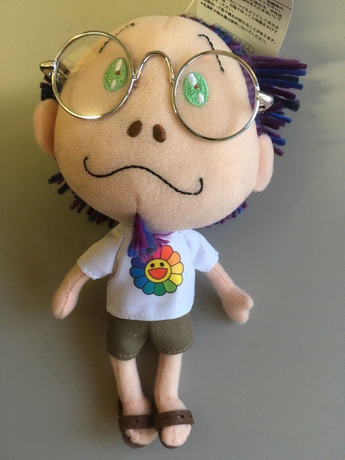 Murakami Takashi in Glasses Mascot Large pillow cushion plush doll flower shirt
