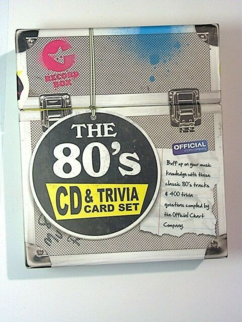 Ginger Fox 80s Edition & Quiz Game CD & Trivia Questions New*