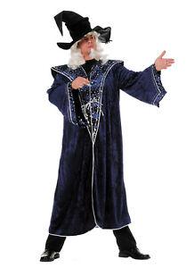 Wilbers Kostüm Zauberer 50 - 60 blaue Sterne Zaubermeister