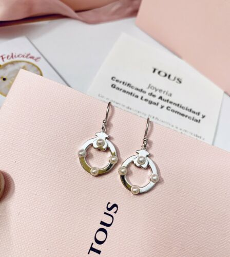 812403520 Original TOUS Silver And Pearl Super Power Earrings
