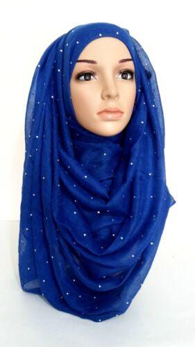 Stone Maxi Scarf Big Large Studded Hijab Sarong Wrap Cape Viscos Diamante*Stone