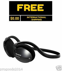 Sony-G45LP-Neckband-Behind-The-Neck-Cool-Stereo-Headphones-Black-MDR-On-ear-New
