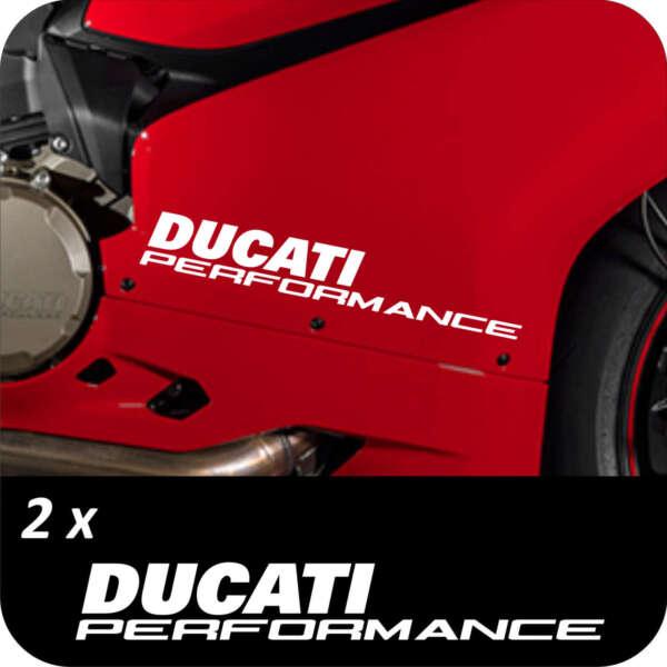 2 Adesivi Ducati Performance Panigale