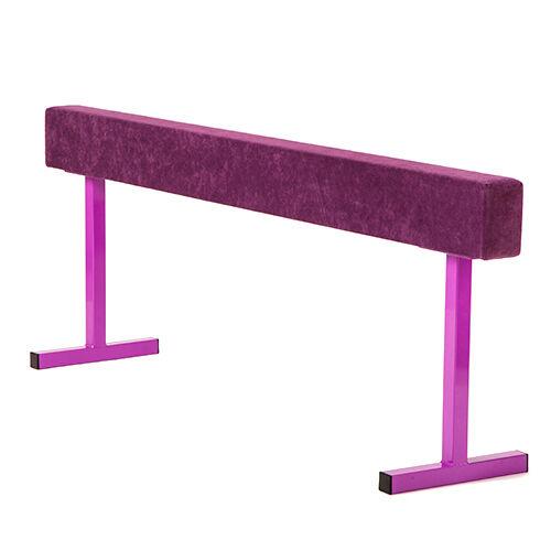 Purple 24  Faux Suede High Gymnastics Balance Beam Home Gym Training Equipment