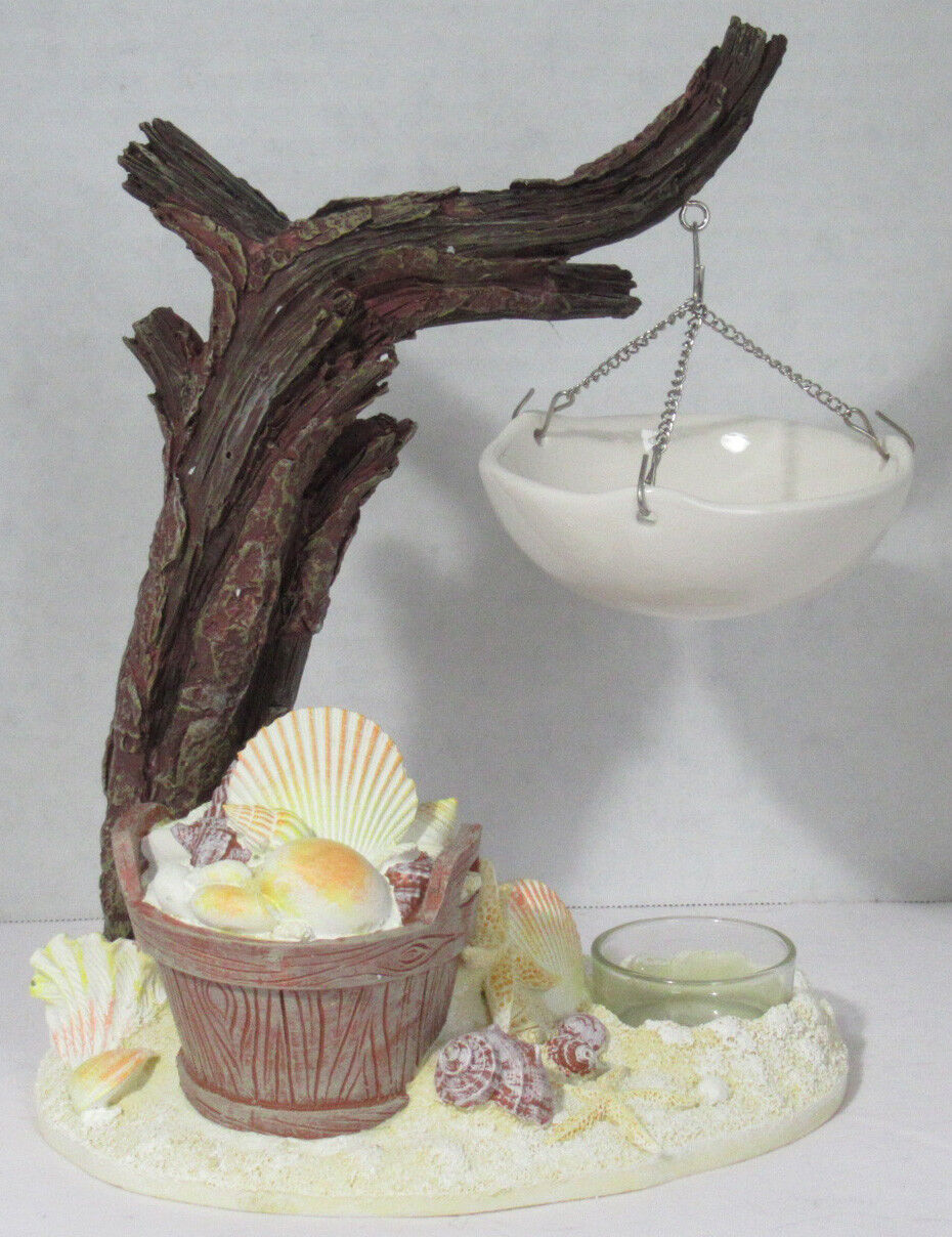 Yankee Candle Tarte Chauffe Cire Fondre Support Coquillages & Bois Flottant