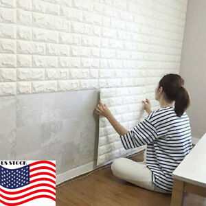 Image Is Loading 3D Brick Waterproof Wall Sticker Self Adhesive Panel