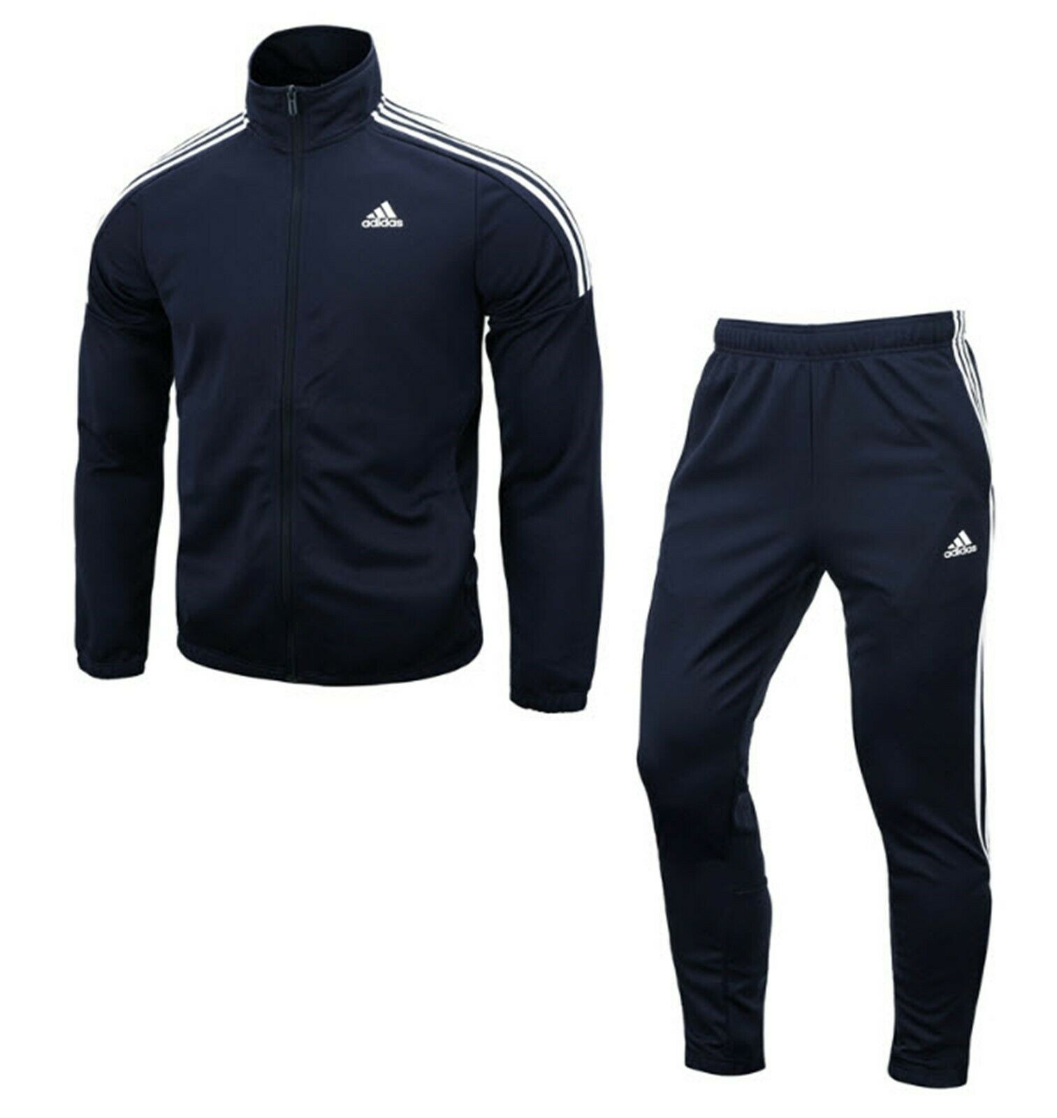 Adidas Men MTS TEAM Track Jackets Training Suit Set Navy GYM Jacket Pant DV2446