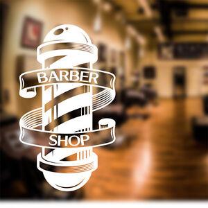 Barber Shop Wall Sticker Scissors Decal Sign Door Art Hair