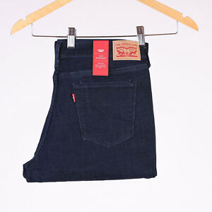 Levi-039-s-505-Straight-Mid-rise-Indigo-dunkelblau-Damen-Jeans-31-30