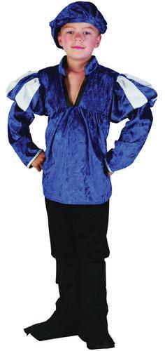 Per Bambini Blu Medievale Prince Costume Ragazzi Bambini Outfit 4-6 anni
