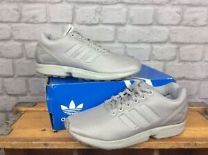 5869249eb2ee7 ADIDAS MENS UK 7 1 2 EU 41 1 3 GREY ZX FLUX TORSION ORIGINAL ...