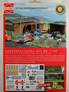 Busch-h0-1165-kit-ausgestaltungs-set-034-strassenmeisterei-034-1-87-h0-nuevo-en-el-embalaje-original