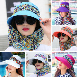 Women-Ladies-Summer-Wide-Brim-Hat-Protective-Visor-Anti-UV-Cap-Foldable-Sun-Hats