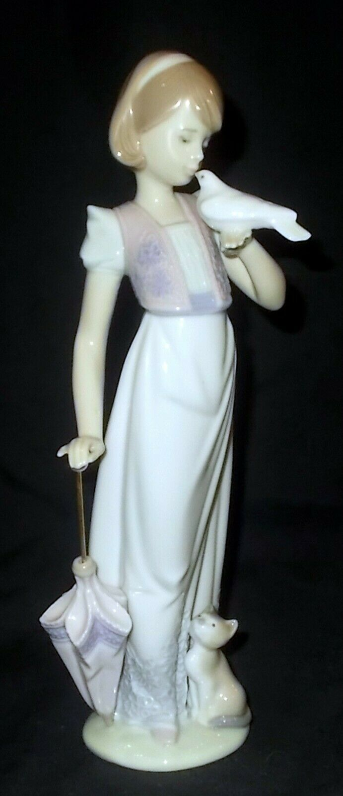 Image 1 - Lladro-SUMMER-STROLL-7611-Collectors-Society-1991-Figure-Made-in-Spain