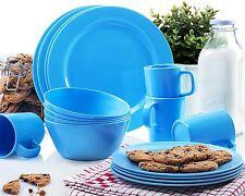 Francois et Mimi 16 Piece Melamine Dinnerware Set Blue