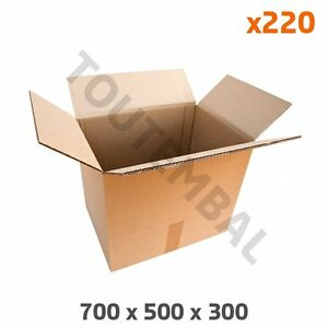 Carton Costaud En Double Cannelure 700 X 500 X 300 Mm (par 220)