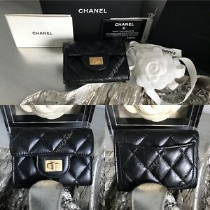 4e9d72643192 NWT CHANEL XL FLAP CARD HOLDER MONALISA BACK POCKET 2018 Black ...