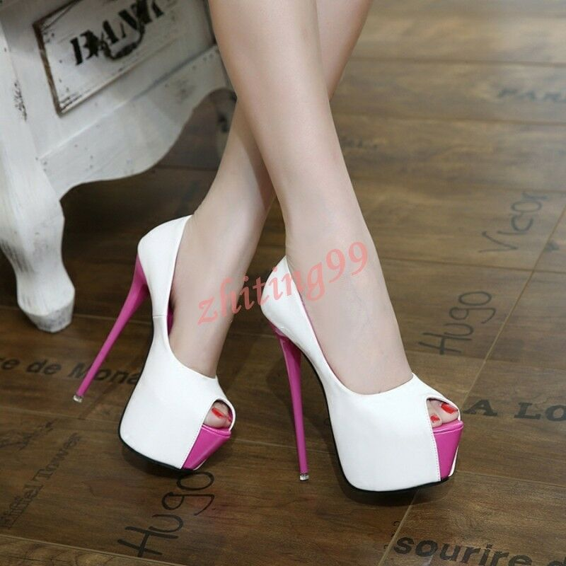 Fashion Sexy Womens Womens Sexy Super High Stilettos Heel Open Toe Platform Party Shoes HOT 632996