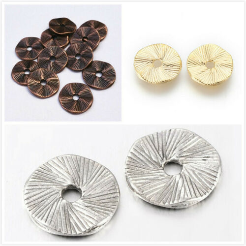 12pc 13mm metal flat round metal beads-pls pick a color