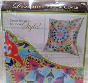 Hobby Lobby Decorative Throw Pillow Cover 18 X 18 Square