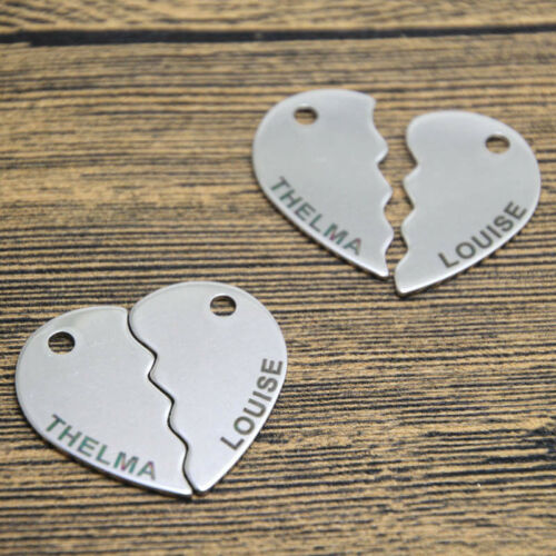 5sets THELMA and LOUISE charm silver tone Broken heart charm pendant 17x28mm