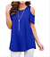 Plus-Size-Womens-Summer-Cold-Shoulder-Tee-Top-Short-Sleeve-Blouse-Casual-T-Shirt thumbnail 7