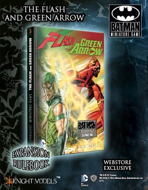 BMG THE FLASH AND ARROW Expansion Rulebook Alternate CUBIERTA CORTE + negro