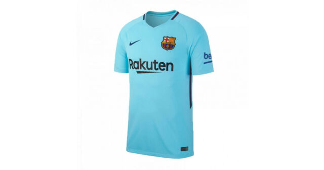 790e6ec8d Nike FC Barcelona 2017 2018 Away Jersey Blue 847254-484 Brand New Men Size