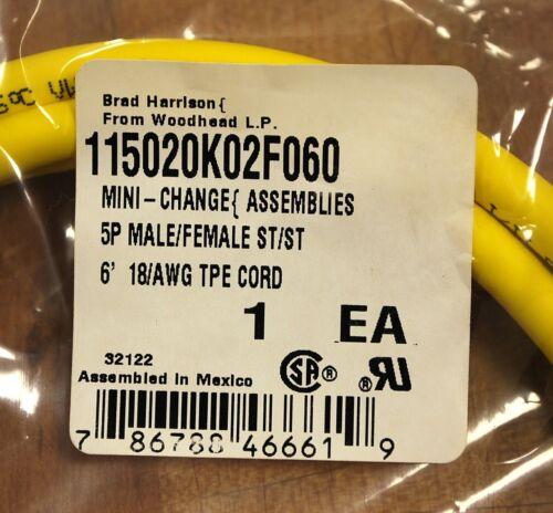 5P ST//ST Brad Harrison 115020K02F060 Mini-Change 6/' NEW Male//Female