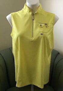 NWT-Jamie-Sadock-Women-039-s-Golf-Sleeveless-Shirt-Size-M-Beautiful-Color-Sunshine