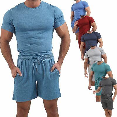 New Mens Short Sleeve Short & T-shirt Set Gym Jogging Lightweight Swear Top Tee Produkte HeißEr Verkauf