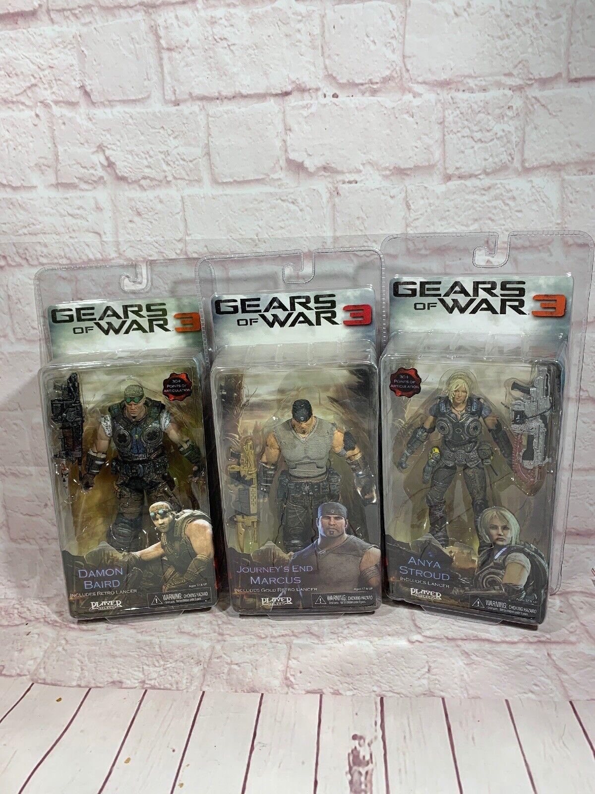 Lote de 3 Gears of War 3 Figuras De Acción Nueva En pacckage