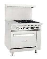 Migali C Ro4 12gl 4 Burner Range Oven With 12 Griddle Natural Gas