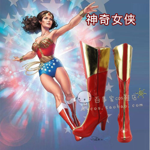 Hot! Wonder Woman cosplay boots shoes custom made Y.1028