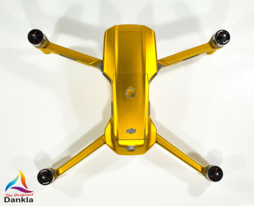 RC DJI MAVIC AIR 2 3-5x Batterie // Folie // Decal CHROM GELB SKIN