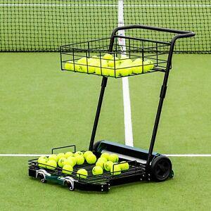 2-in-1 Tennis Ball Baseball Collector Ball Hopper Frame Can Hold 55 Tennis Balls