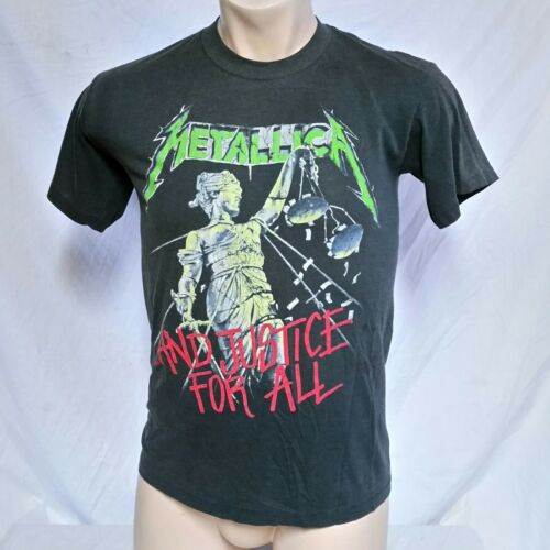 VTG 1988 Metallica T Shirt 80s Tee And Justice For All Tour 50/5