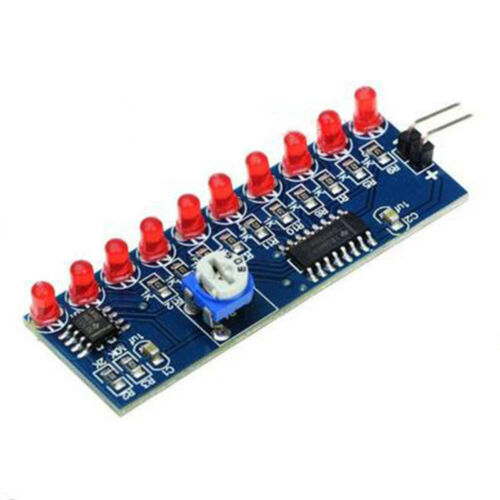 NE555 CD4017 Scrolling Red Light SMD unsoldered DIY Kit Soldering