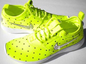 Bling Nike Shoes w/ Swarovski Crystals * Juvenate Volt Grey White w/ Polka Dots