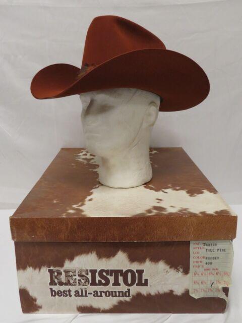 d708bc96e8b IOB Resistol Self-Conforming XXX 3X Beaver Size 7 Long Oval Whisky Tall  Pine Hat