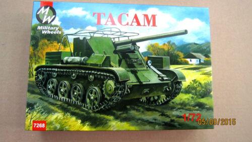 Military Wheels 7268-1//72 Tacam Self-propelled Gun Plastic Model Kit