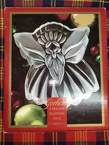 GORHAM-CRYSTAL-Holiday-Traditions-ANGELS-OF-PEACE-8-1-2-034-Angel-Candy-Dish-NIB