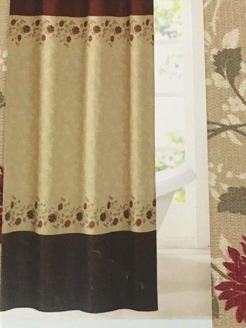 exceptional Kohls Curtain Part - 6: Kohls Santhea Shower Curtain Fabric 70 X 72 Polyester Floral Elegant   eBay