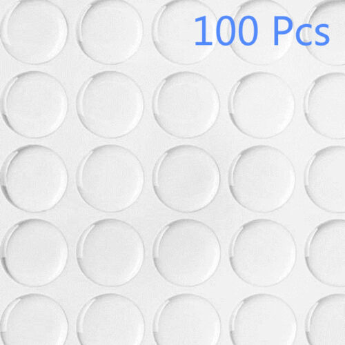 "20//40//60//100 Pcs 3D 1/"" DIY Circles Stickers Crystal Clear Epoxy Adhesive Round"