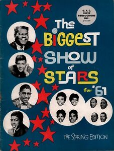 FATS-DOMINO-1961-BIGGEST-SHOW-OF-STARS-SPRING-CONCERT-PROGRAM-BOOK-VG-2-NMT